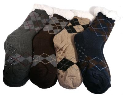 chaussons chaussettes anti-dérapants